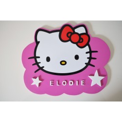 Plaque nuage Hello Kitty personnalisée