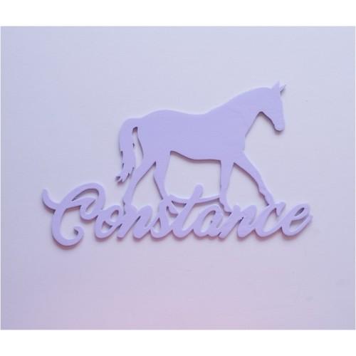Plaque prénom cheval personnalisée
