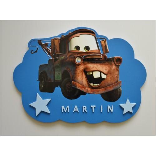 Plaque nuage Cars personnalisée
