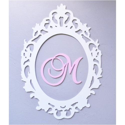 Plaque initiale de princesse style Baroque