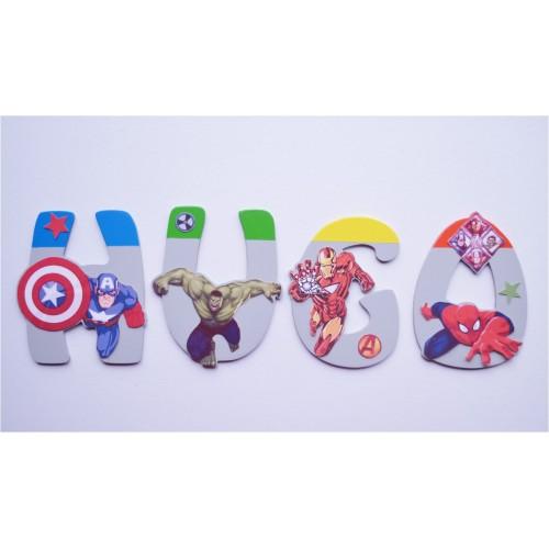 Lettres Bois pour Prénom: Avengers