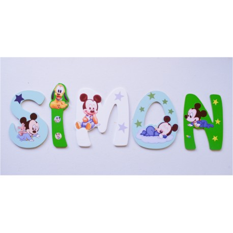 Lettres Bois pour Prénom: Mickey