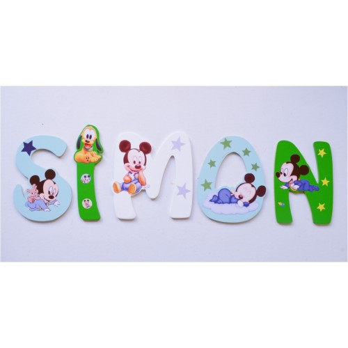 Lettres Bois pour Prénom: Mickey Baby