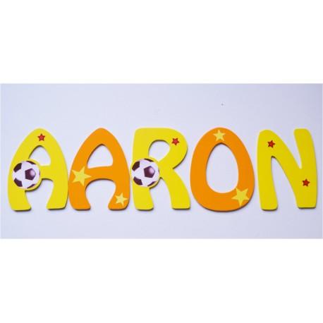 Lettres Bois pour Prénom: Ballon