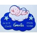 Plaque nuage bébé