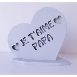 PLAQUE PERSONNALISEE COEUR PAPA