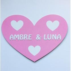 Coeur en bois personnalisé