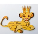 Plaque de naissance Roi Lion Simba personnalisée