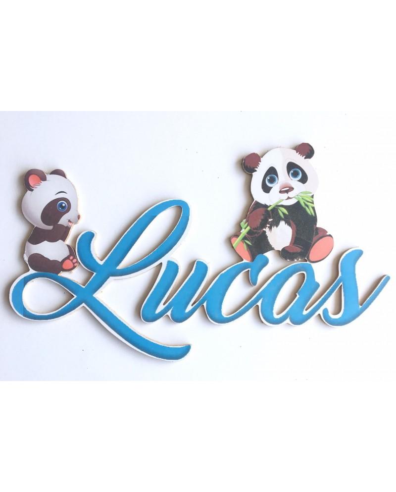 Prénom personnalisé Panda