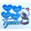 Plaque de naissance personnalisé Panda