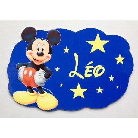 Plaque nuage Mickey personnalisée