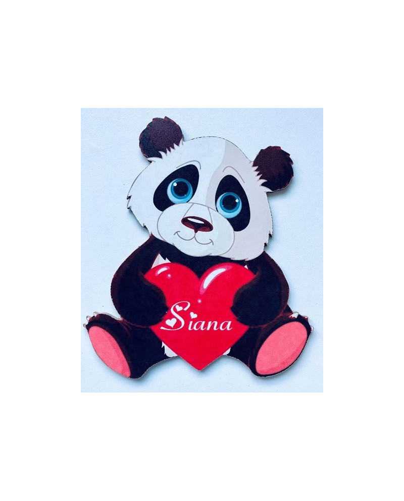 Plaque lettre panda