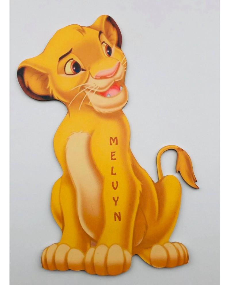 Plaque de naissance roi lion