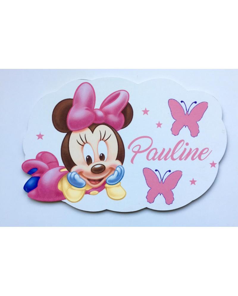 Plaque nuage Minnie personnalisée