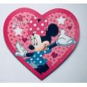 Plaque coeur Minnie personnalisée