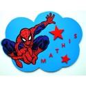 Plaque nuage Spiderman personnalisée