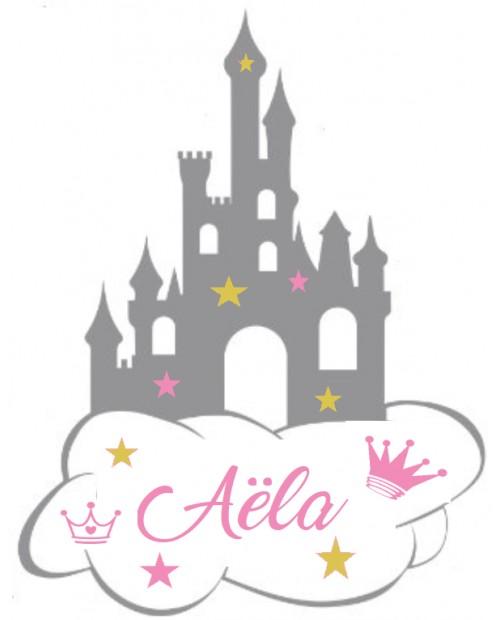 chateau de princesse personnalisée