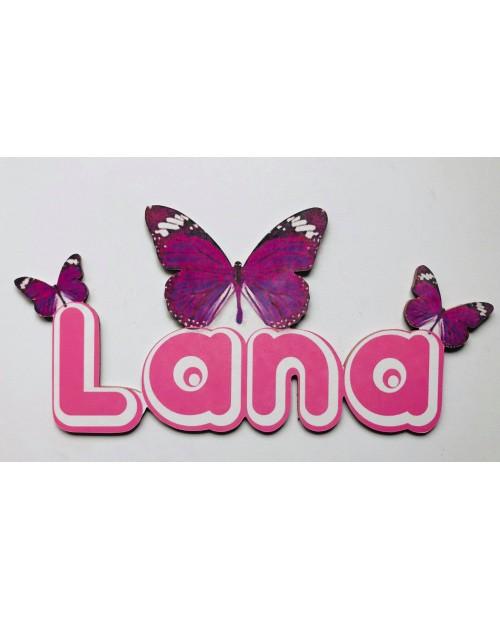 Prénom avec papillons personnalisée