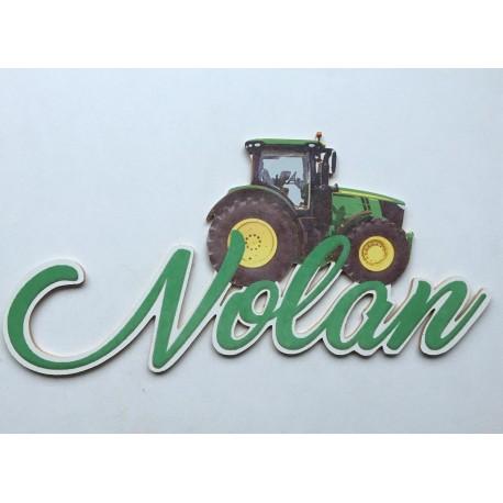 Prénom tracteur personnalisée