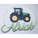 Plaque tracteur personnalisée
