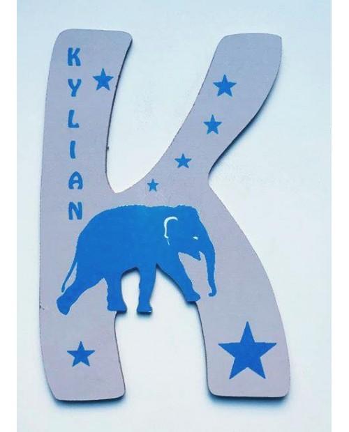 Lettre éléphant personnalisé