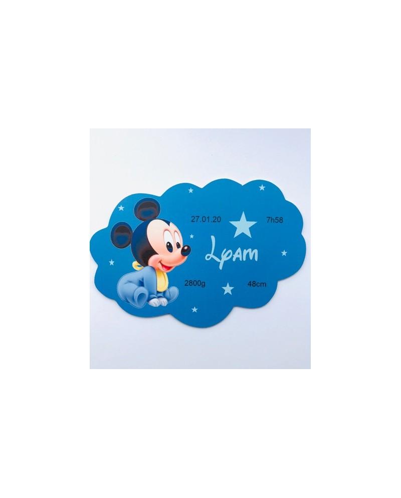Plaque nuage winnie personnalisée