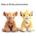 Peluche 26cm Nala ou Simba
