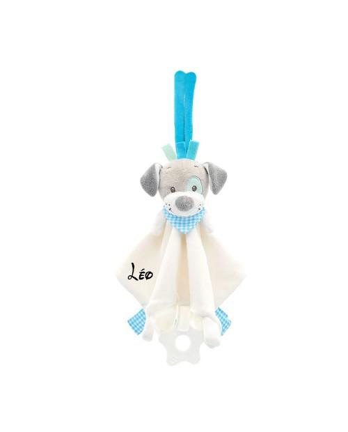 Doudou Nattou chien Gaston et Cyril personnalisé