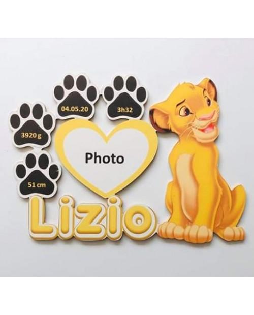 Plaque de naissance Simba Roi Lion personnalisée