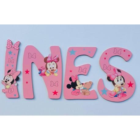 Lettres Bois pour Prénom: Minnie
