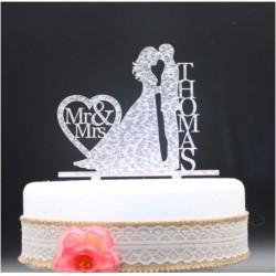 Décoration personnalisée pour gâteau de mariage
