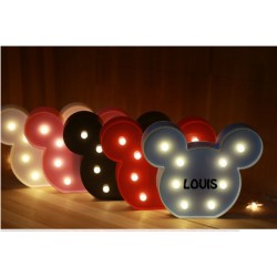 VEILLEUSE MICKEY MINNIE PERSONNALISEE