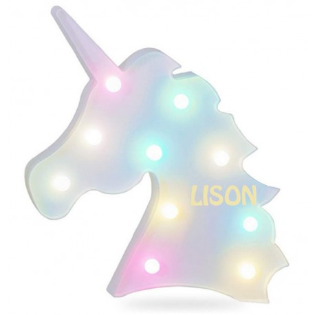 VEILLEUSE licorne PERSONNALISEE