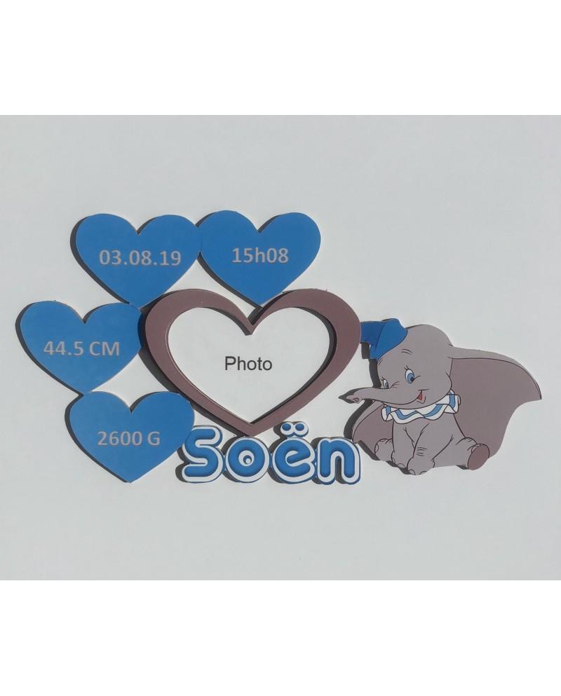 Plaque de naissance Dumbo