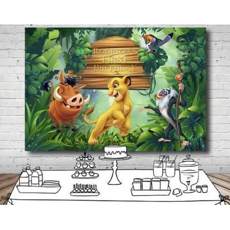 Toile / Arrière plan personnalisé Simba