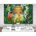 Toile / Arrière plan personnalisé ROI LION Simba