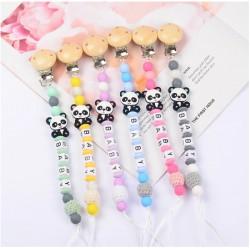 Attache tétine Panda silicone