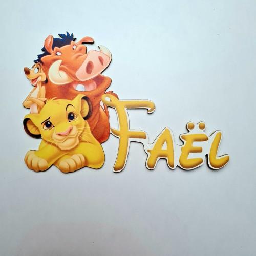 Prénom Simba Roi Lion personnalisée