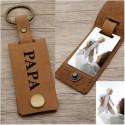 Porte clés personnalisé Papa en cuir