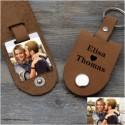 Porte clés personnalisé Amour en cuir
