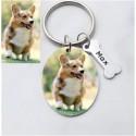 Porte clés personnalisé Photo Animal + Prénom