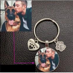 Porte clés personnalisé Photo Animal