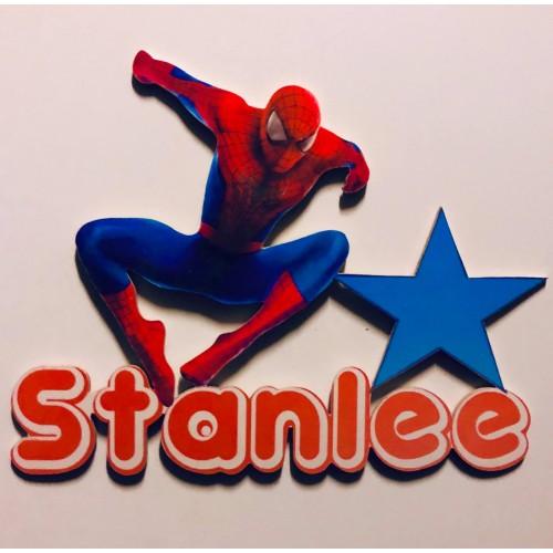 Prénom Spiderman personnalisé