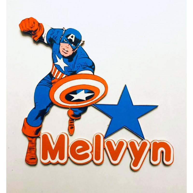 Prénom Avengers Captain America personnalisé
