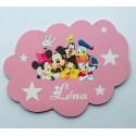 Plaque nuage Mickey et ses amis personnalisée
