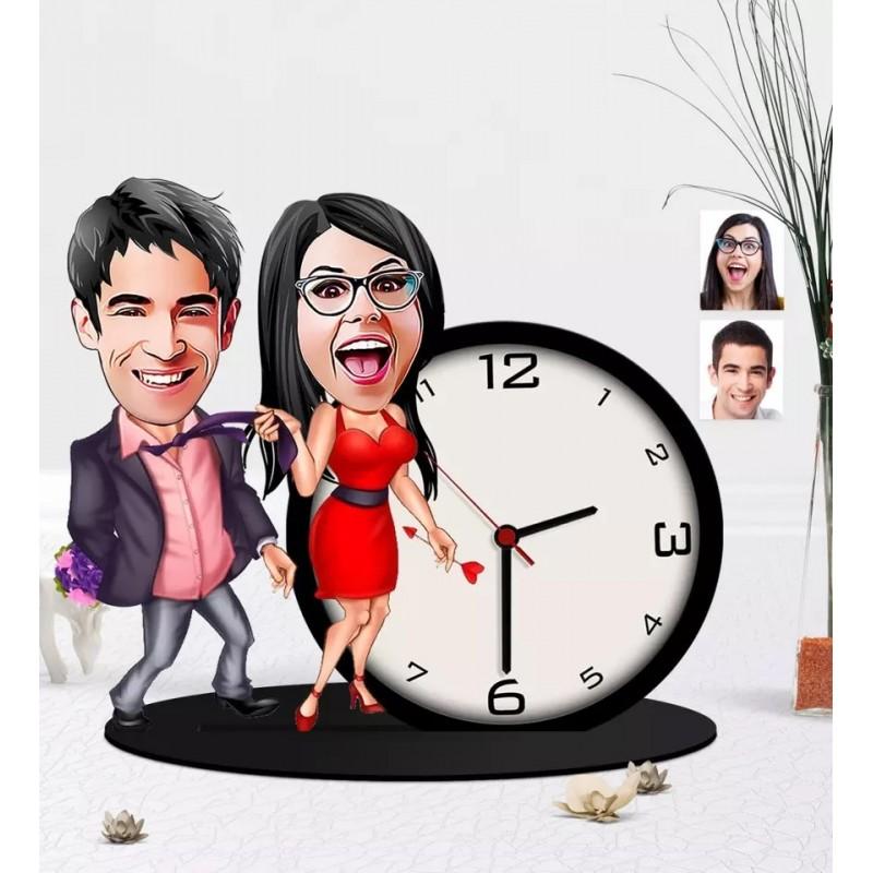 Horloge Caricature couple