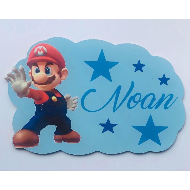Plaque nuage Mario personnalisée