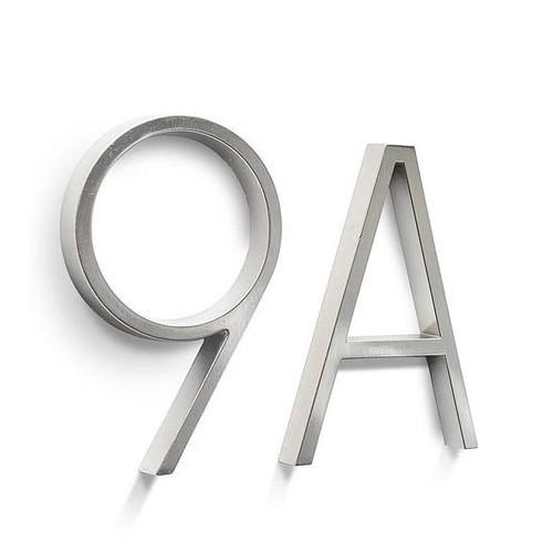 Lettres et chiffres métal gris