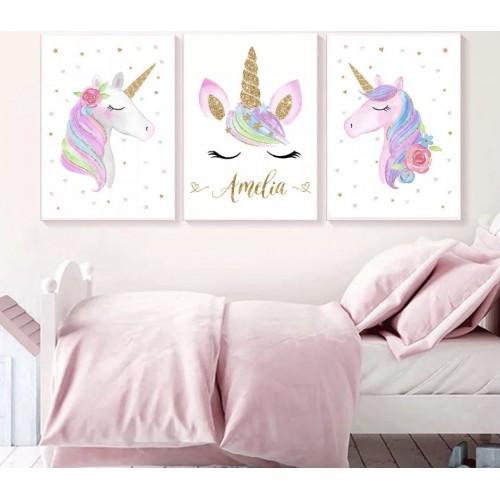 Lot de 3 toiles personnalisées Éléphant