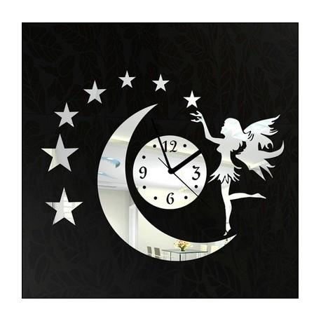 Horloge fée et papillons